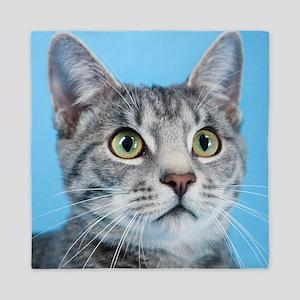 Beautiful Green Eyed Kitty Cat Queen Duvet