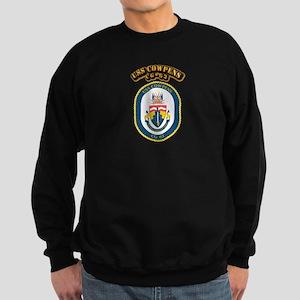 USS Cowpens (CG-63)-With Text Sweatshirt (dark)
