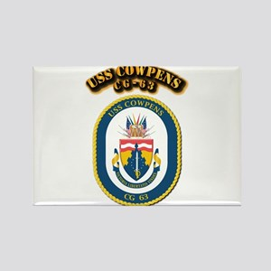 USS Cowpens (CG-63)-With Text Rectangle Magnet
