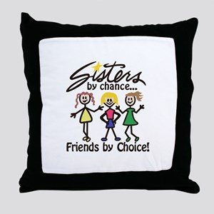 Friends By Choice Throw Pillow