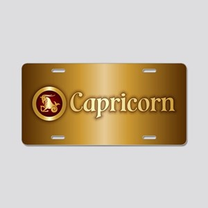 Capricorn Gold Aluminum License Plate