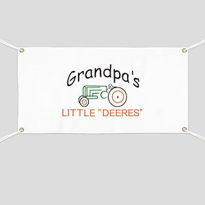 "Grandpas Little ""Deeres"" Banner"