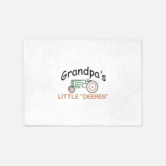 """Grandpas Little """"Deeres"""" 5'x7'Area Rug"""