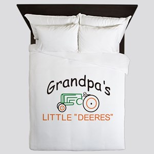 "Grandpas Little ""Deeres"" Queen Duvet"