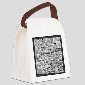 Barcelona cityscape Canvas Lunch Bag