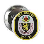 """USS HOPPER 2.25"""" Button"""