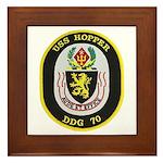 USS HOPPER Framed Tile