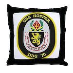 USS HOPPER Throw Pillow