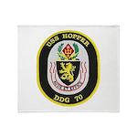 USS HOPPER Throw Blanket