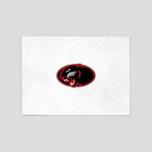 Panther Logo 5'x7'Area Rug