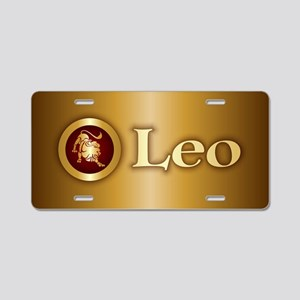 Leo Gold Aluminum License Plate