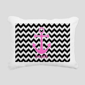 Black Chevron Anchor Rectangular Canvas Pillow