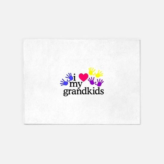 I Love My Grandkids/Hands 5'x7'Area Rug