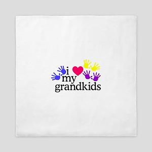 I Love My Grandkids/Hands Queen Duvet