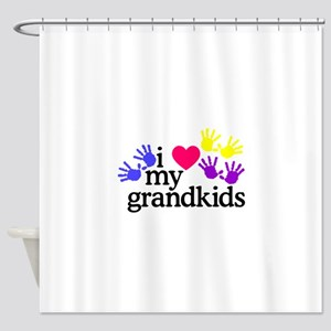 I Love My Grandkids/Hands Shower Curtain