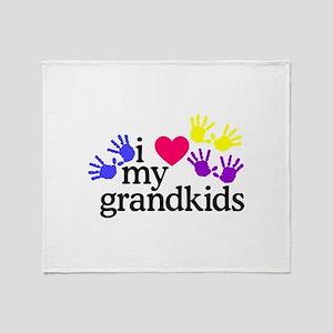 I Love My Grandkids/Hands Throw Blanket