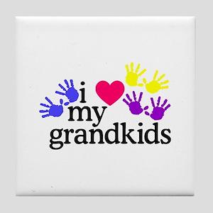 I Love My Grandkids/Hands Tile Coaster