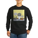 Cats and Toilets Long Sleeve Dark T-Shirt