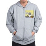 Cats and Toilets Zip Hoodie