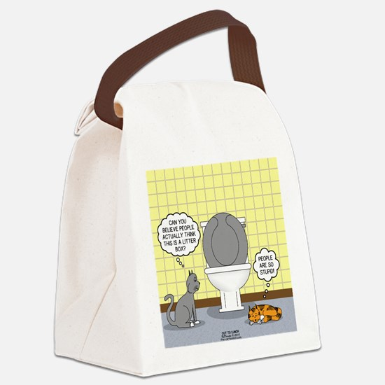 Cats and Toilets Canvas Lunch Bag