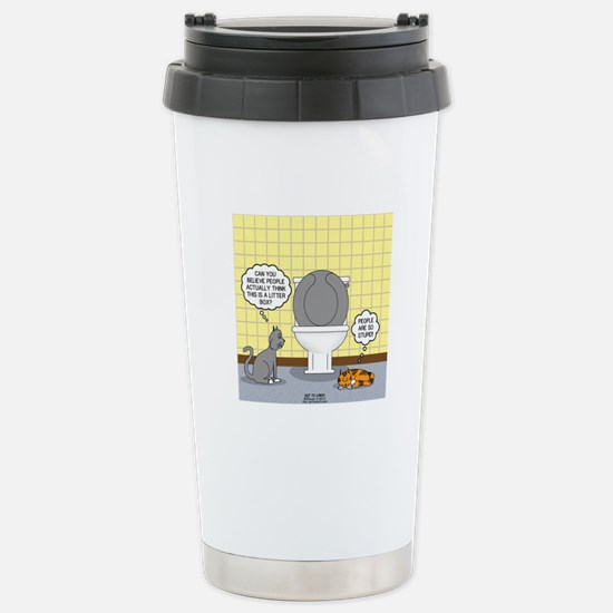 Cats and Toilets Stainless Steel Travel Mug