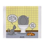 Cats and Toilets Throw Blanket