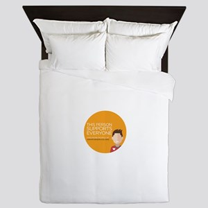 Open For Service Supporter - Orange Queen Duvet