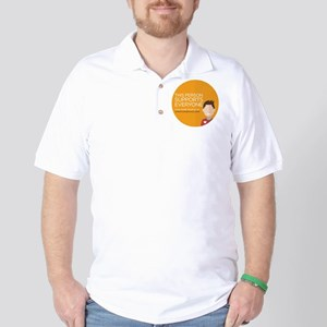 Open For Service Supporter - Orange Golf Shirt