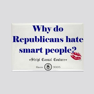 Republicans Hate Smart People Rectangle Magnet