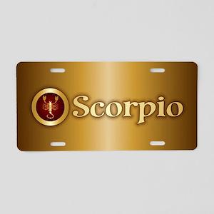 Scorpio Gold Aluminum License Plate