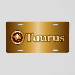 Taurus Gold Aluminum License Plate