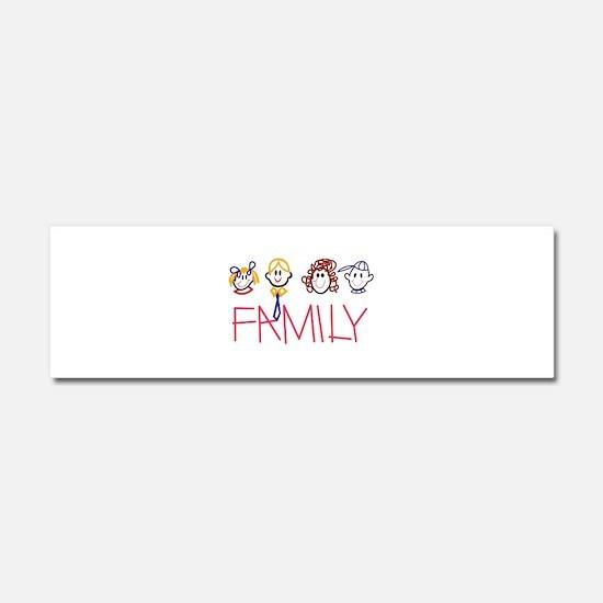 Stick Family Car Magnet 10 x 3