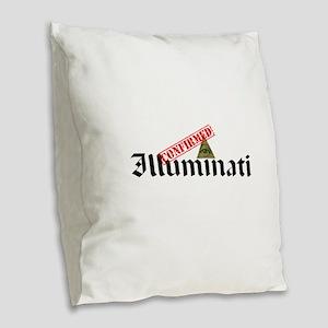 Illuminati Confirmed Burlap Throw Pillow