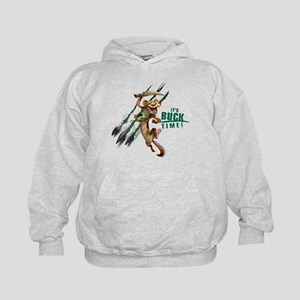 It's Buck Time Kids Hoodie