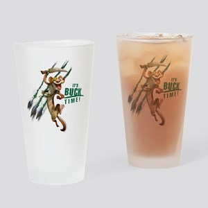 It's Buck Time Drinking Glass