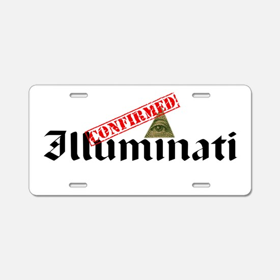 Illuminati Confirmed Aluminum License Plate