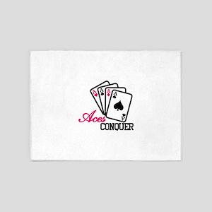 Aces Conquer 5'x7'Area Rug