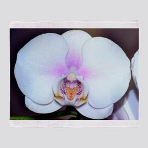 White Orchid Throw Blanket