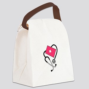 Blood Pressure Cuff Canvas Lunch Bag