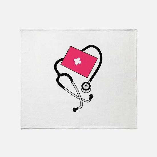 Blood Pressure Cuff Throw Blanket