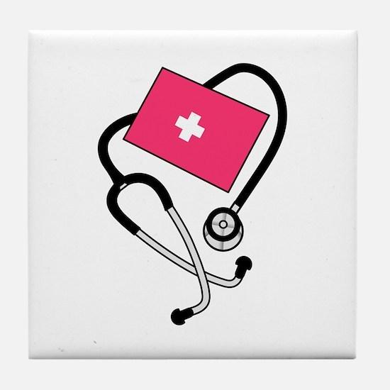 Blood Pressure Cuff Tile Coaster