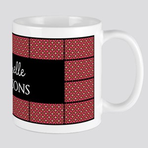 Red Black and White Pattern Personalize Mug