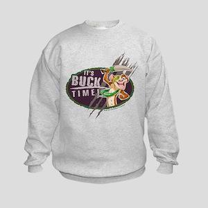 It's Buck Time 2 Kids Sweatshirt