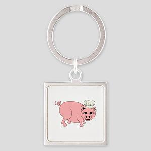 Chef Pig Keychains