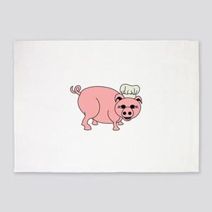 Chef Pig 5'x7'Area Rug