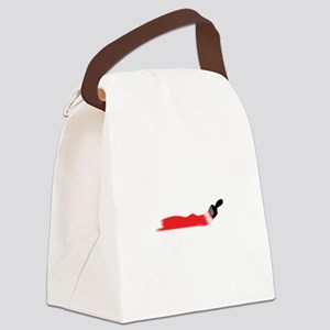 Paint Brush Canvas Lunch Bag