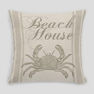 Beach House Crab Sandy Coastal Decor Everyday Pill