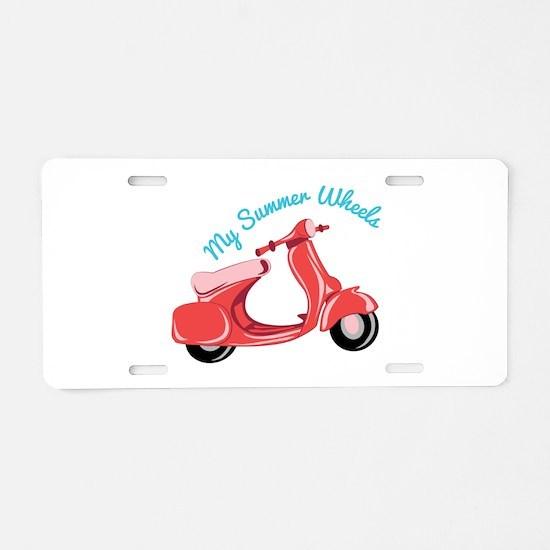 Summer Wheels Aluminum License Plate