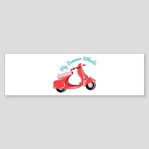 Summer Wheels Bumper Sticker