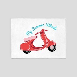 Summer Wheels 5'x7'Area Rug